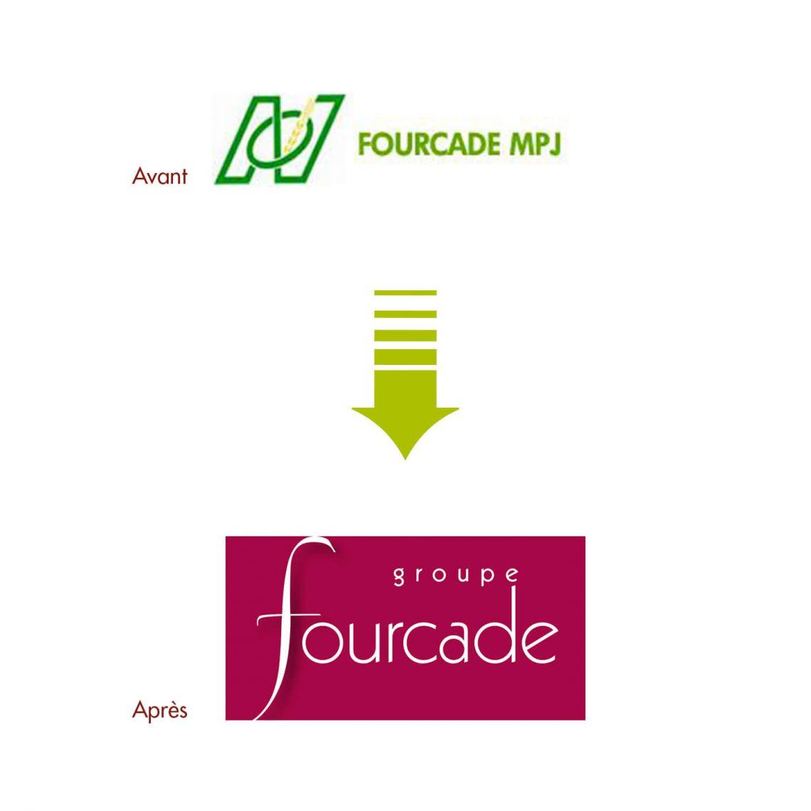 Creation logo Groupe Fourcade par l'agence de communication IS COMMUNICATION