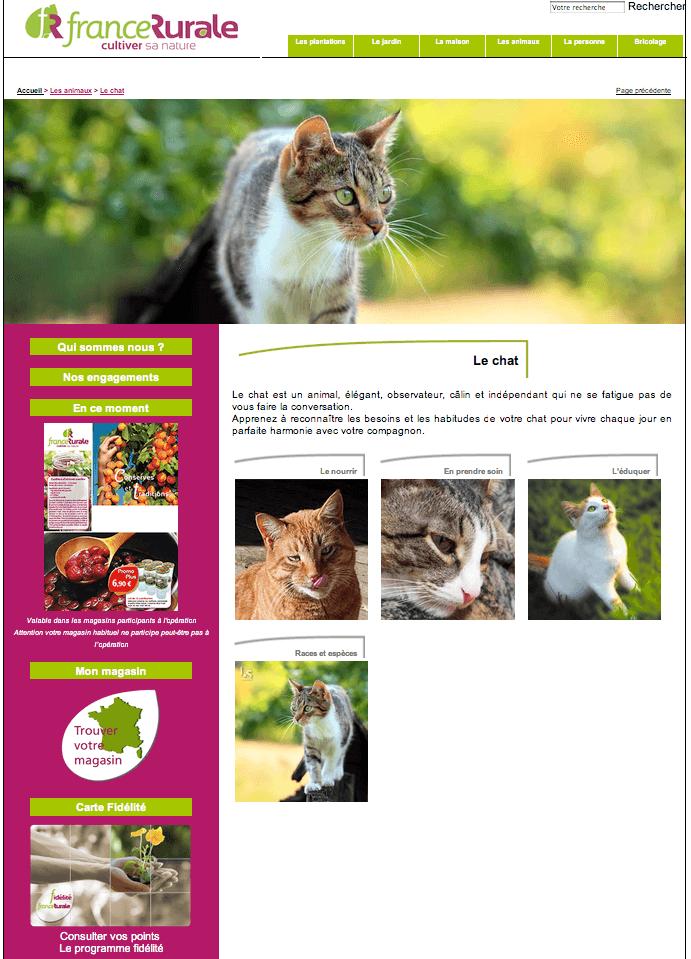 Site Internet vitrine pour le France Rurale