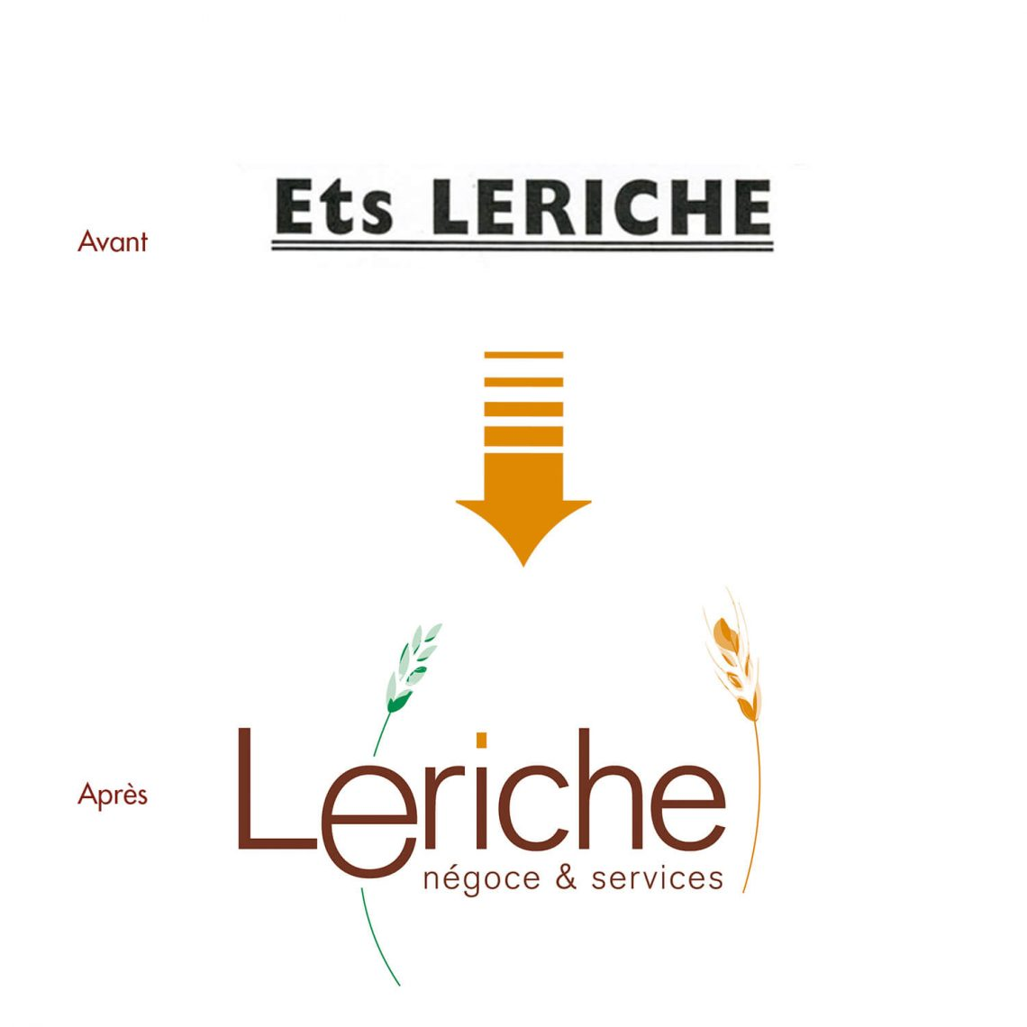 logo Leriche par l'agence de communication IS COMMUNICATION