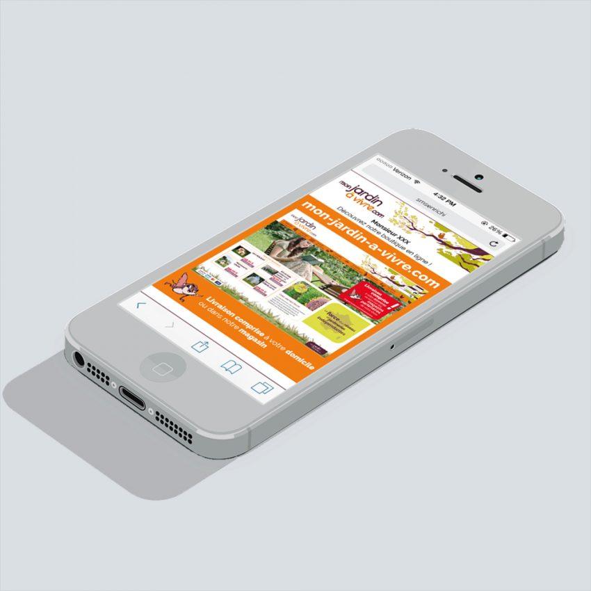 Marketing mobile de campgne SMS enrichi pour mon-jardin-a-vivre.com