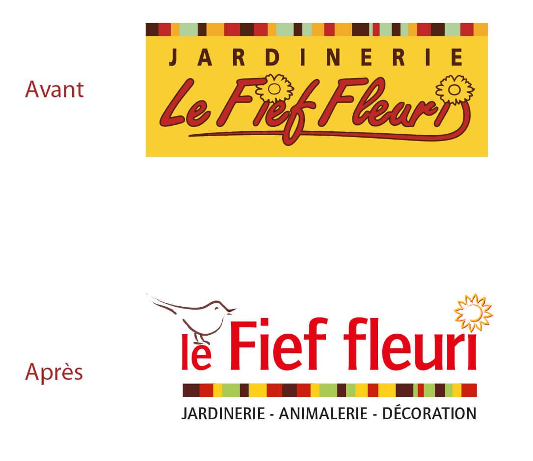 Refonte logo Le Fief Fleuri par IS COM à Nantes