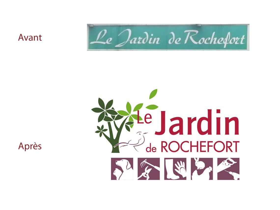 Evolution du logotype jardin de rochefort