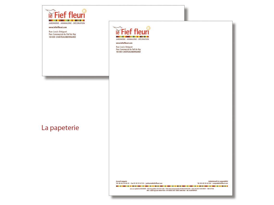 Création de la papeterie Fief Fleuri par l'agence IS COMMUNICATION