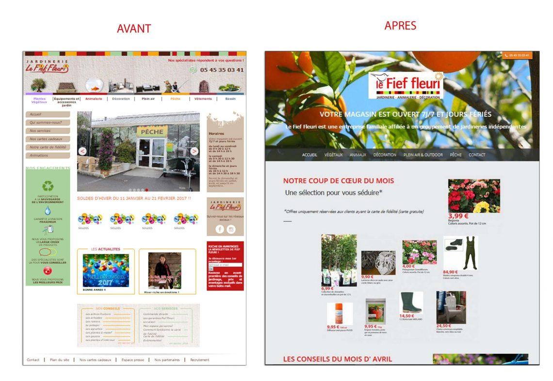 Refonte site web - Fief fleuri
