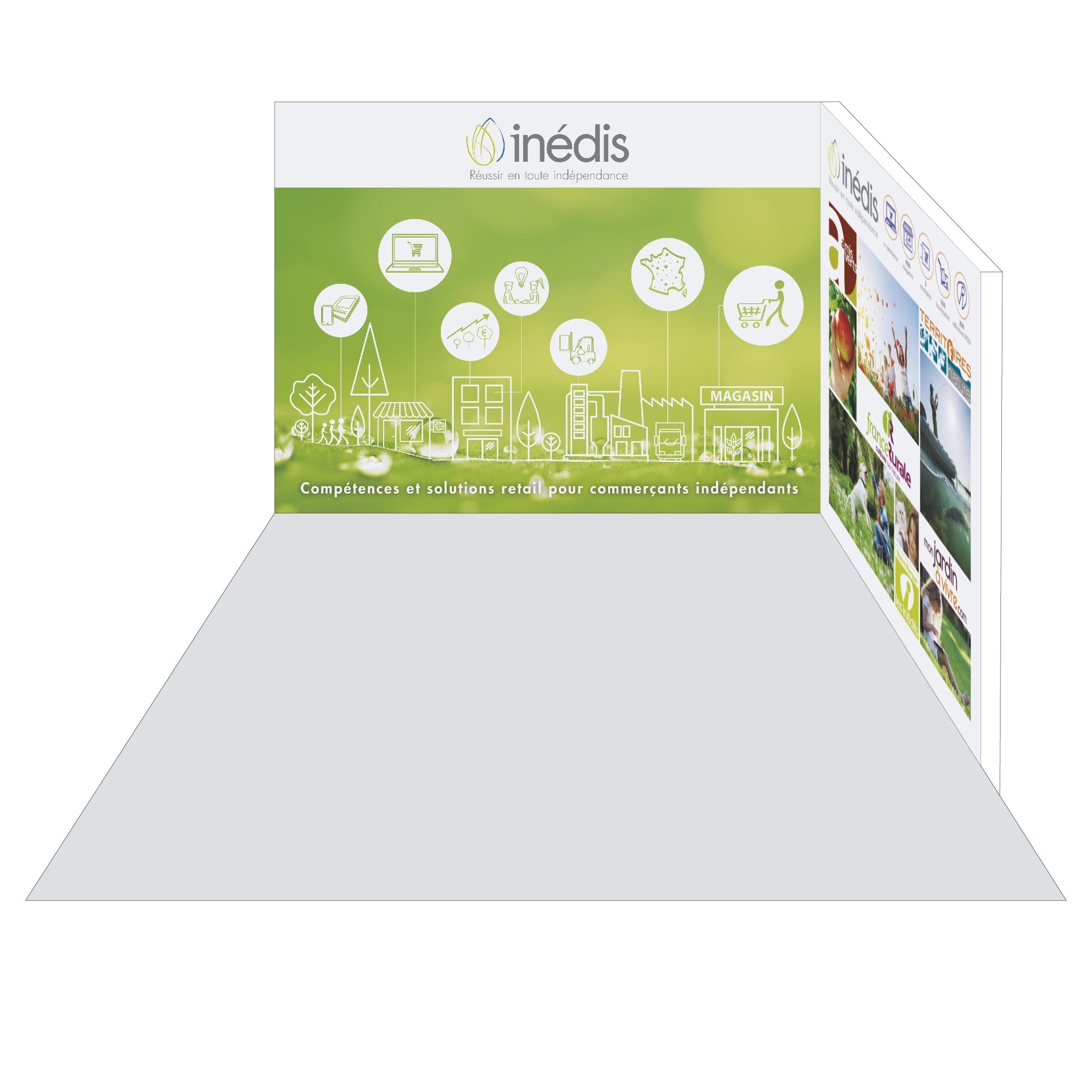 stand inedis salon du vegetal agence i s communication nantes. Black Bedroom Furniture Sets. Home Design Ideas