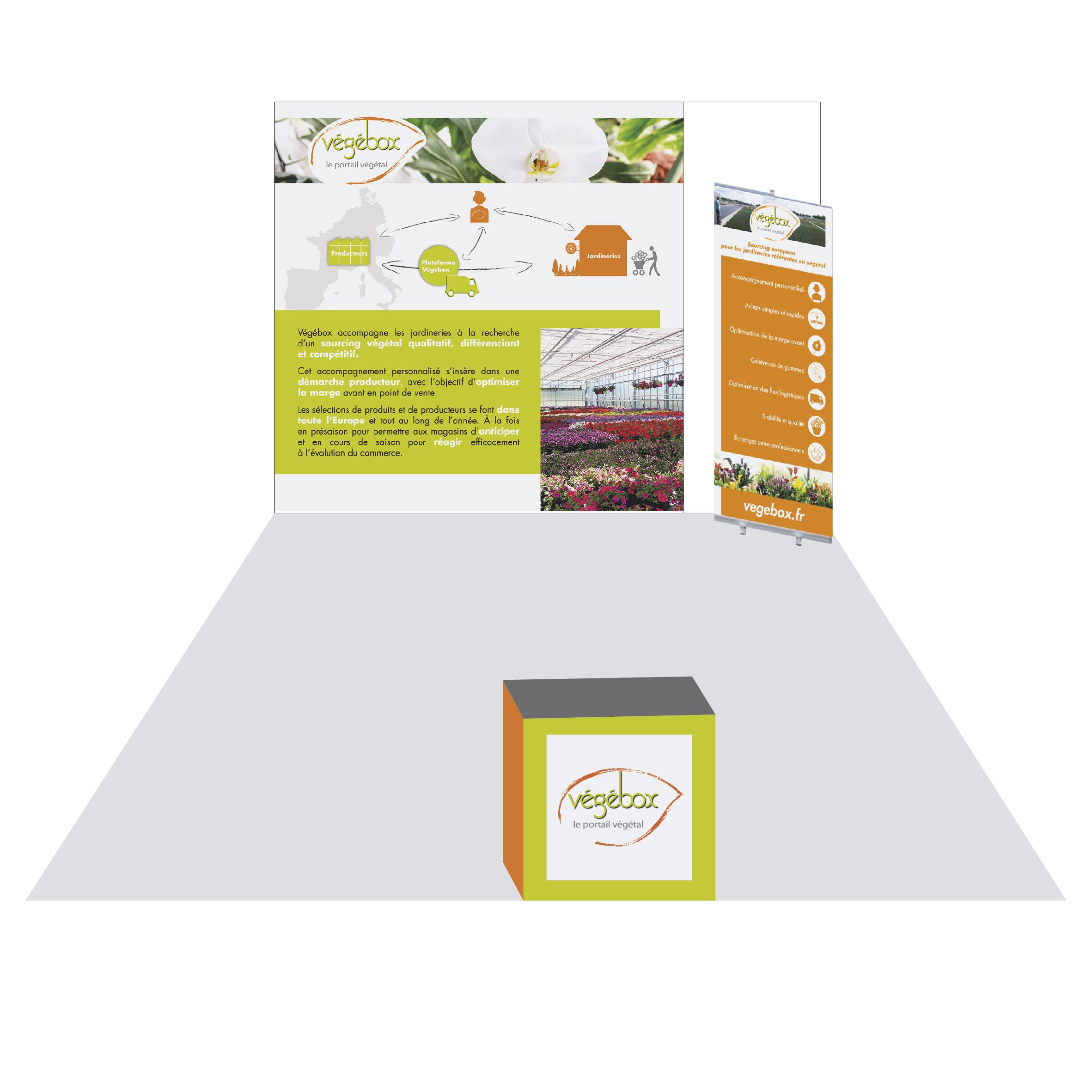 stand vegebox salon du vegetal agence i s communication nantes. Black Bedroom Furniture Sets. Home Design Ideas