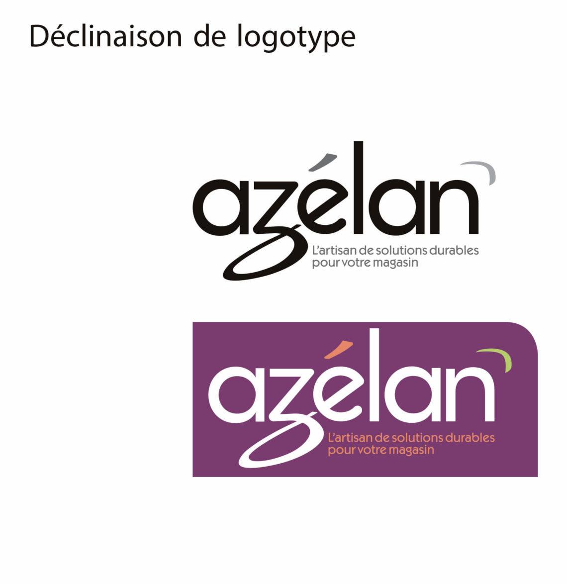 déclinaison logotype Azelan - Agence IS COMMUNICATION NANTES