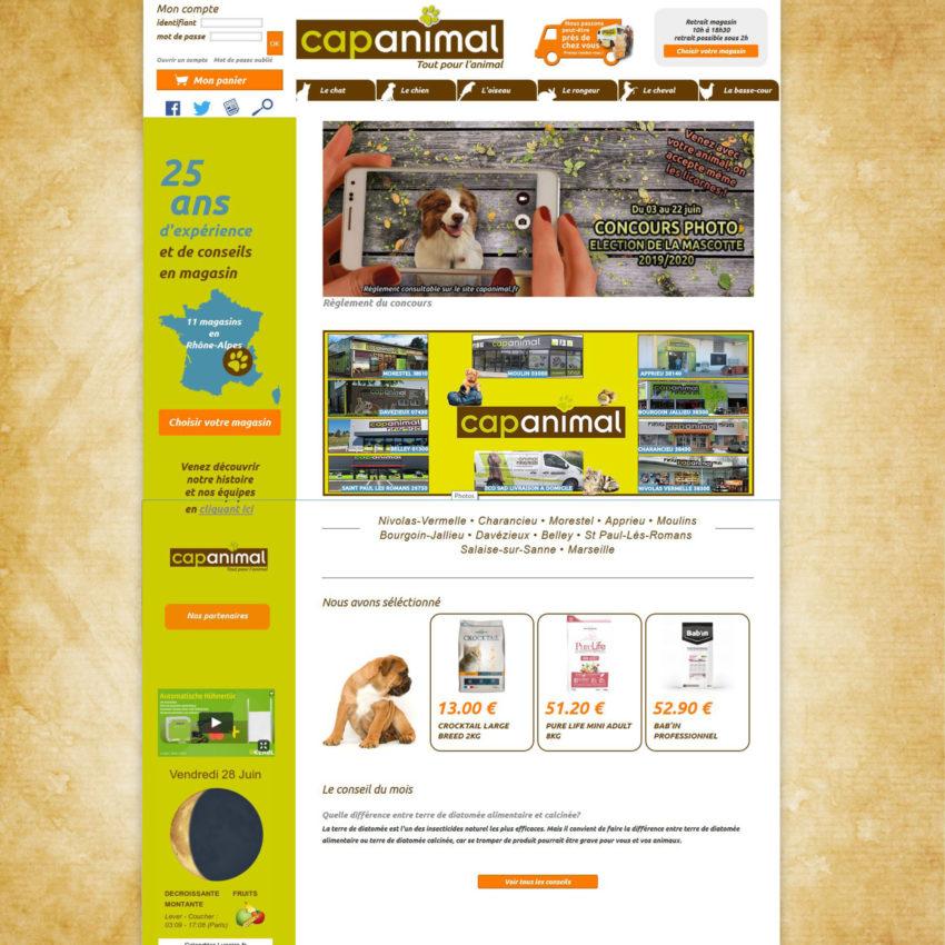 site cap animal