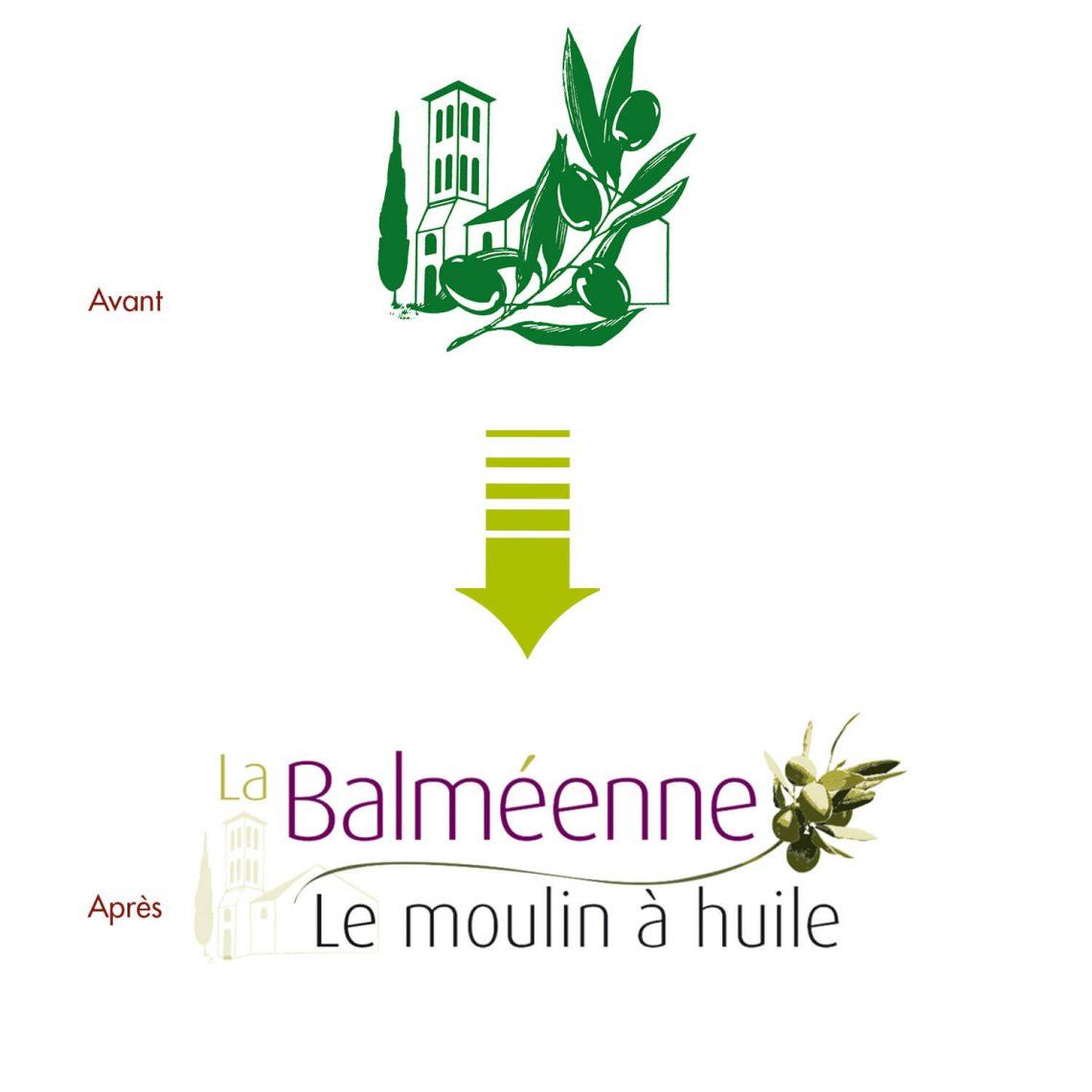 Creation du logo Balmeenne par l'agence de communication IS COMMUNICATION