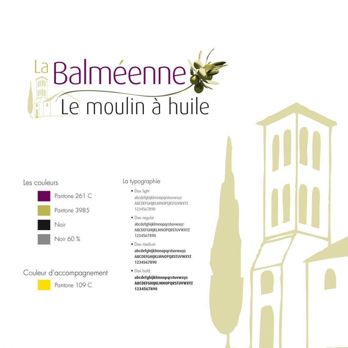 identité de marque La Balméenne