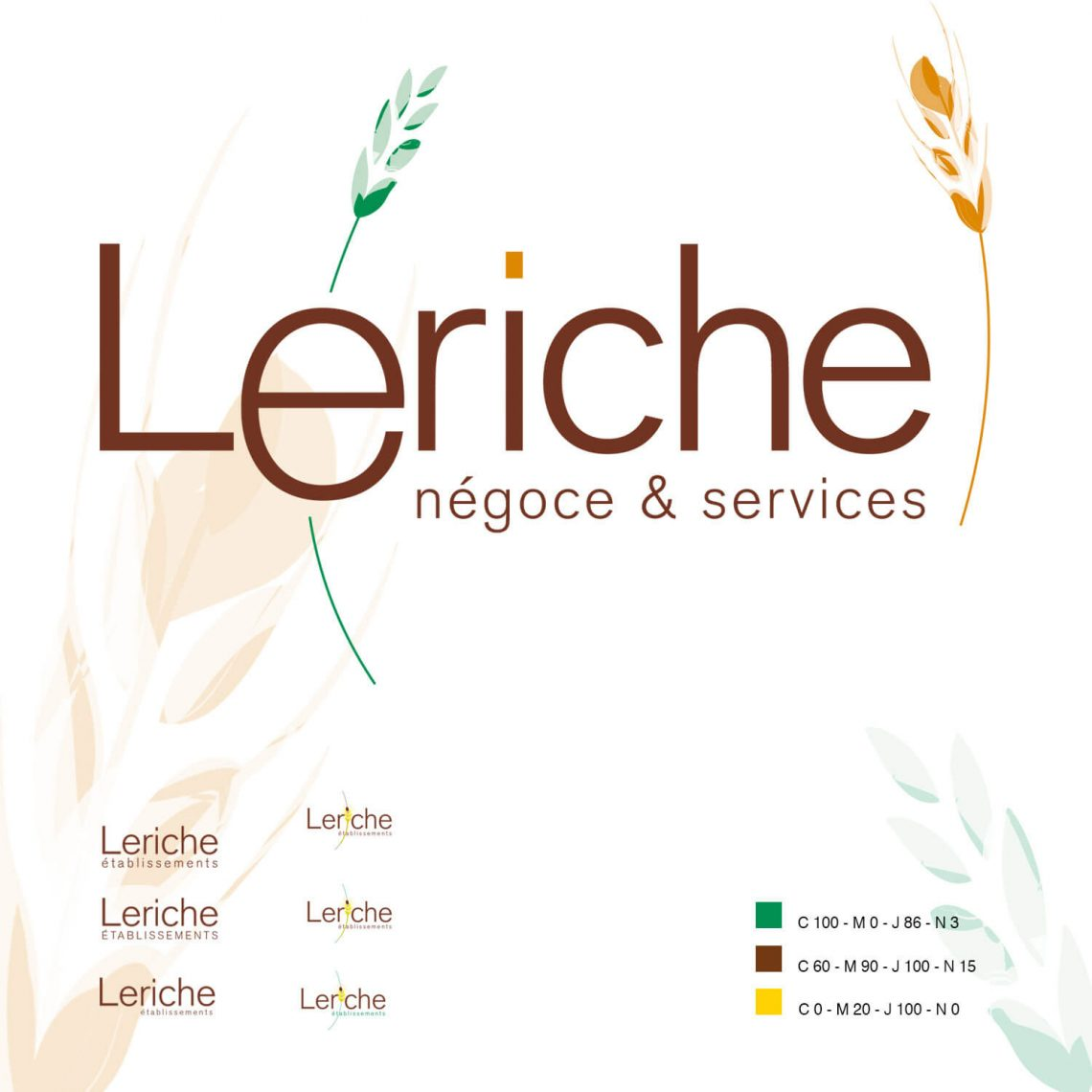 Logotype Leriche par l'agence de communication IS COMMUNICATION