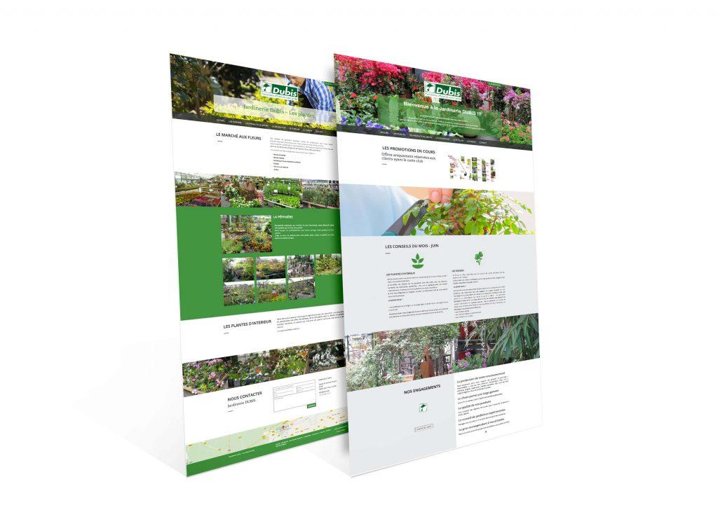Site web jardinerie Dubis agence IS COMMUNICATION Nantes